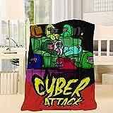 Amacigana® Among us Pattern Soft Wool Blanket Soft Plush Bedding, Children Manta Super Soft Warm Lightweight en el sofá cama y el salón (E,135 * 150 cm)
