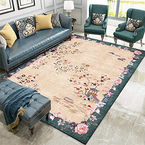 Rug Enkel Modern stor heminrednings Paviljöns lyckliga molnblommaväxt Lämplig för bekväma mattor i vardagsrum, sovrum, matsal 80x160cm