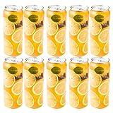 UPKOCH 10 Piezas de Recipientes de Jugo Transparente Botellas de Jugo Vacías Frascos de Almacenamiento de Jugo Lata de Cola Transparente para La Oficina de La Tienda