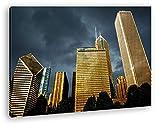 Chicago Interior Ciudad con Gigantesco Edificios como Lienzo, diseño enmarcado en marco de madera, impresión digital de alta calidad con marco, no es un póster o cartel, lona, 60x40