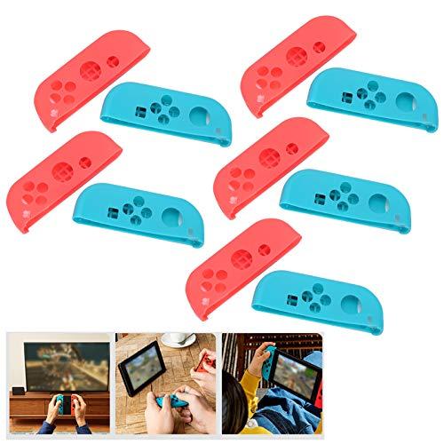 Mxzzand 5 Juegos de Funda de Mando a Prueba de Golpes para Switch(Red Blue)