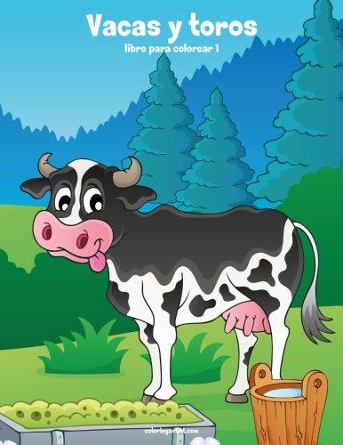 Vacas y toros libro para colorear 1: Volume 1