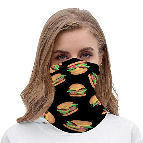 Unisex Stylish Red Shrimp Seafood Headwear Outdoor Magic Bandana As Neck Gaiter Head Wrap Headband Scarf Face Mask Ultra Soft Elastic Quick Dry Microfiber