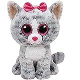 Carletto Ty 37075 - Kiki, Katze mit Glitzeraugen, Glubschis, Beanie Boos, 24cm, grau