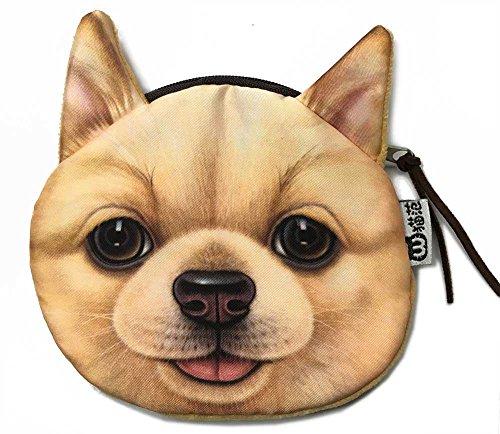 Yellow Puppy Face Wallet | Cute and Creative Dog Head Zipper Closure Coin Purse