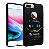 Cheshire Cat Quotes iPhone 7 Plus Case, IMAGITOUCH 2-Piece Style Armor Case with Flexible Shock Absorption Case Cover for iphone 7 Plus – Alice in Wonderland Cheshire Cat Quotes Hybrid