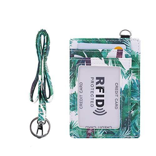 Portatarjetas con cordón, tarjetero impreso con 1 ventana de identificación transparente, 6 ranuras para tarjetas de crédito, color 13. Small