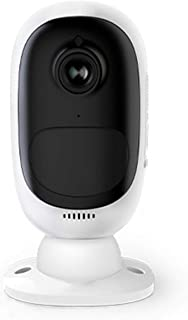 Security Camera Night Vision Surveillance Camera Rechargeable Battery Powered Motion Detection Get Mobile Alerts for Indoo...