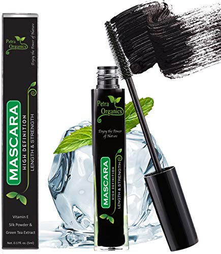 Mascara Waterproof Black - Voluminous Mascara - Fiber Mascara - Silk Mascara - Black Mascara for Sensitive Eyes - Natural Waterproof Mascara - Cruelty Free Mascara
