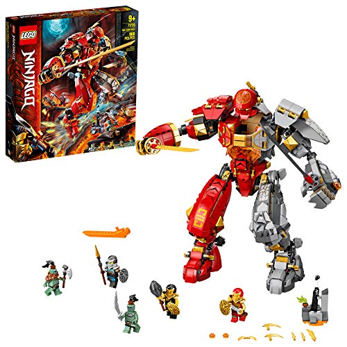 LEGO NINJAGO Fire Stone Mech 71720 Building Kit Featuring LEGO Ninja Mech, New 2020 (968 Pieces)