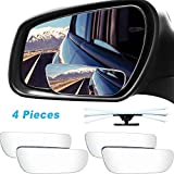 4 Pieces Blind Spot Mirror Wide Car Angle Mirror Safety Convex Rear View Mirror 360 Degree Rotating Auto Side Mirror Adjustable Waterproof Rectangular Side Mirror with 4 Base for Car Truck SUV RV Van