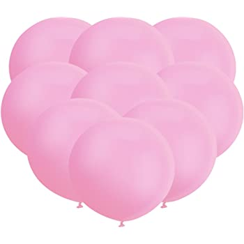 GuassLee 18 Inch Big Balloon Latex Giant Balloon Jumbo Thick Balloons for Photo Shoot/Birthday/Wedding Party/Festival/Event/Carnival Decorations 30ct/Pack Pink