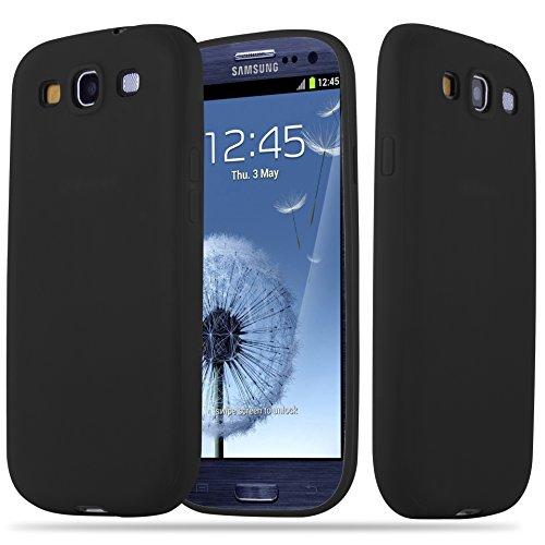 Cadorabo Custodia per Samsung Galaxy S3 / S3 Neo in Candy Nero - Morbida Cover Protettiva Sottile di Silicone TPU con Bordo Protezione - Ultra Slim Case Antiurto Gel Back Bumper Guscio