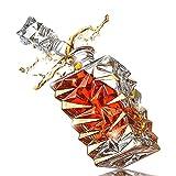 CYHT Lussuoso Decanter Dorato Whisky - Regali per Gli Uomini, Lui, papà - 850 ml Decantatore del Whisky Decanter Decanter per Borbone, Scotch o Whisky