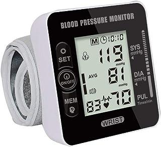 Tensiómetro de muñeca,Portátil Totalmente Automático Presión Arterial Y Detección De Pulso Arrítmico, Gran Pantalla LCD,Memoria (2 * 99)