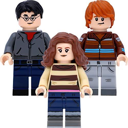 LEGO Harry Potter -  Figuras de Harry Potter (en caja de regalo),  diseño de Hermione Granger y Ron Weasley