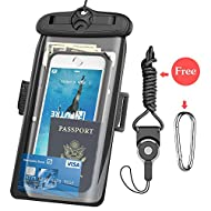 """Underwater Case, FUTRE CellPhone Dry Bag Pouch Adjustable Armband for Apple iPhone 6S 6 SE 5S Samsung Galaxy S7 S6 Note 5 4 HTC LG Sony Nokia Motorola up to 6.3"""" diagonal –Black (Black-6.3)"""