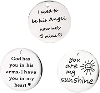 Stainless Steel Inspiration Words Charms Valentines Day Gifts Craft Supplies Bracelet Bangle Charms Message Verses Charm Pendant Jewelry Findings Making Accessories for DIY Necklace Bracelet #4