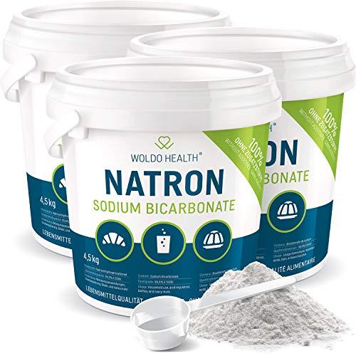 Natron Pulver 3x 4.5 kg in Lebensmittelqualität - im Eimer mit Tüte verschlossen