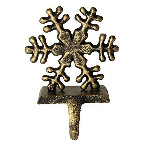 Judy1980 - Appendiabiti vintage per calza di Natale, pupazzo di neve, Babbo Natale, fiocco di neve, cervi, ganci da appendere in ferro da stiro per camino, decorazioni natalizie