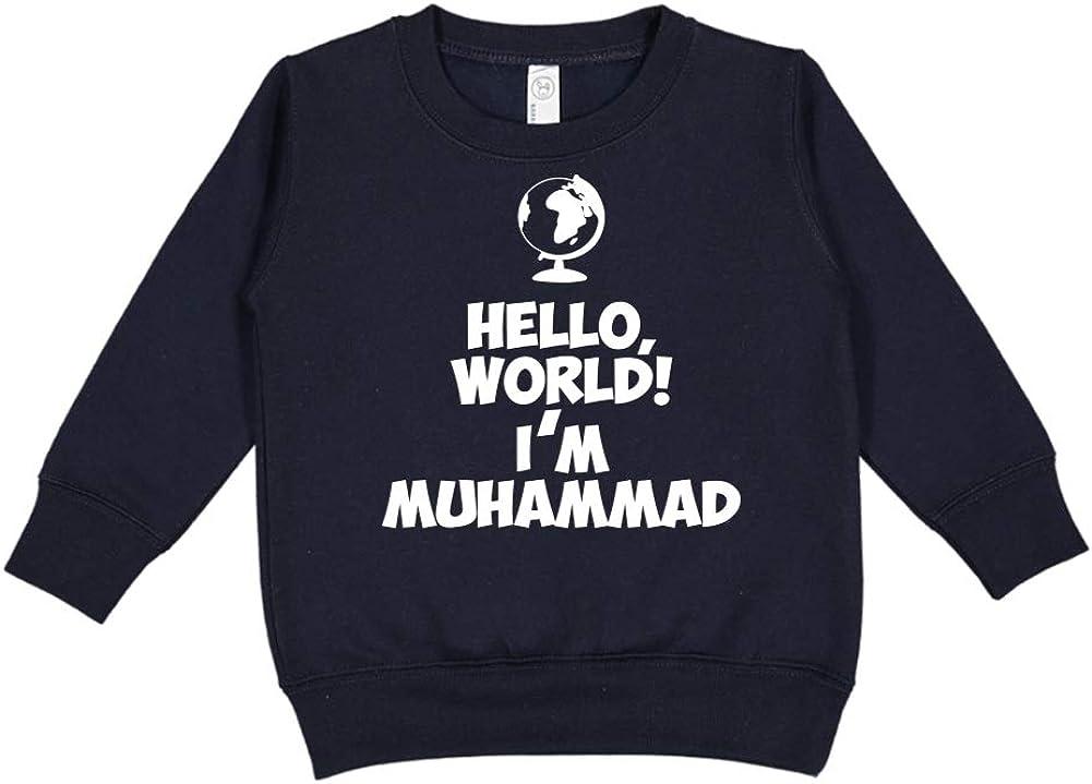 Personalized Name Toddler//Kids Sweatshirt Im Muhammad Mashed Clothing Hello World