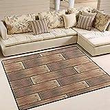 Liz Carter Teppiche Holzbohlen Muster Brett Wand Innen/Außen Bodenmatte Sofa Teppich rutschfeste Home Hotel Großflächige Teppichmatte 72 x 48 in