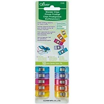 CLOVER 10-Piece Wonder Clips, 56, Assorted Colors