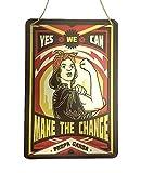Placa Vintage A | Chapas Decorativas metálicas para Pared | Carteles decoración Vintage | Cuerda para Colgar | 20x30 cm