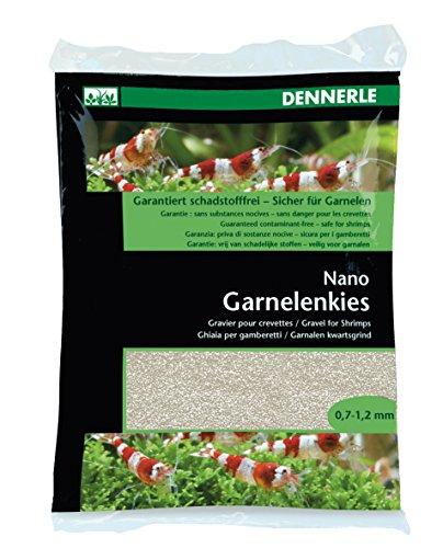 Dennerle Nano Garnelenkies | CO2 beständiger Aquarienkies |Geeignet für Garnelen und Krebse (Sunda Weiß)