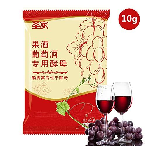 Blentude Weinhefe Universal Trockenhefe Für 10g | Natürliche Frucht Weinhefe | Alkoholhefe | Hefe Nährstoff Hefe Apfelwein Hefe