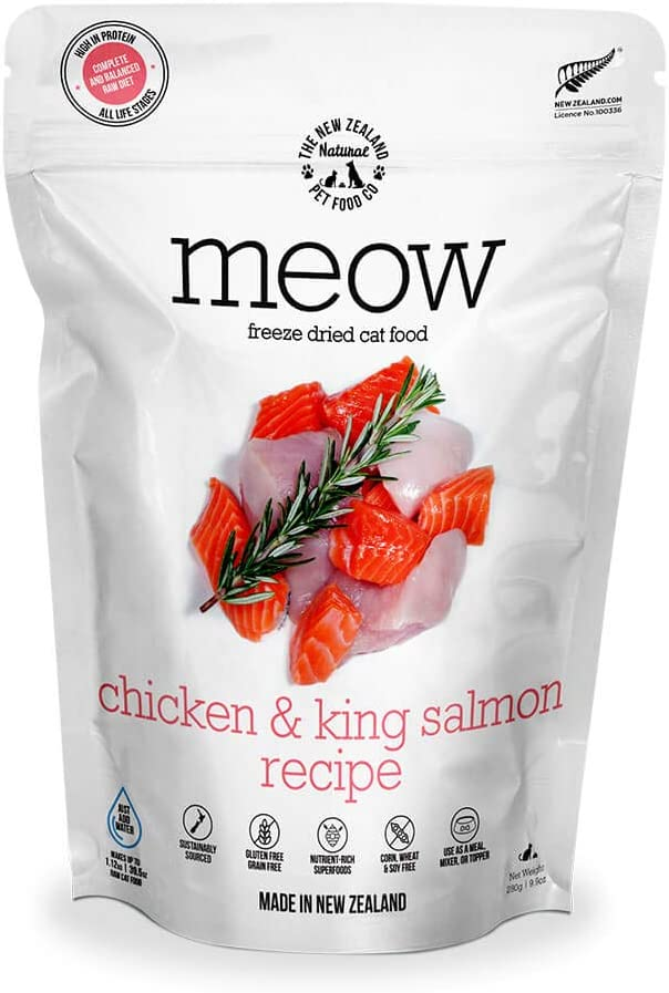 Meow Chicken Our shop most popular Sales results No. 1 King Salmon Freeze Dried Raw Cat or Food Mixer