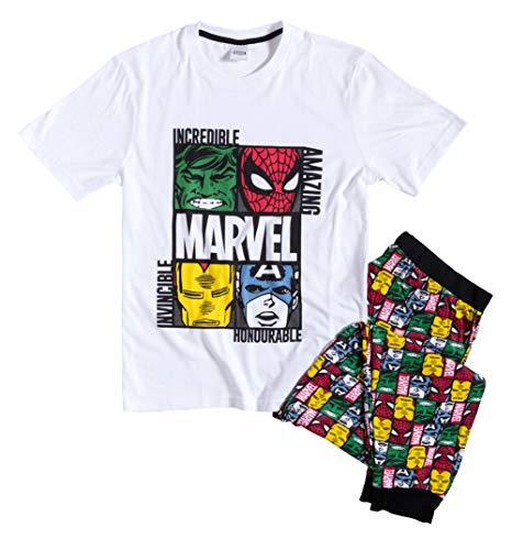 Mens White Marvel Pyjamas