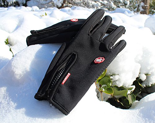 UPhitnis Herbst Winter Fahrradhandschuhe für Herren Damen - Outdoor Winddicht Touchscreen Handschuhe - Winterhandschuhe für Lauf Radfahren Jagd Sports - 5