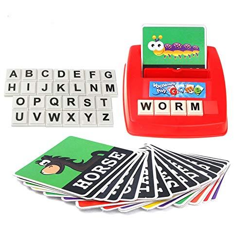 Word flash cards Engels woord onderwijs plezier alfabetisering vroegschoolse educatie van het alfabet spelling spel kinderspeelgoed