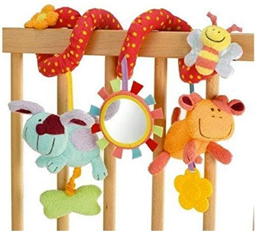 Wacemak1r Cuna espiral de actividad colgante decoración bebé juguetes cuna asiento coche cochecito regalo de Navidad, 1 pieza