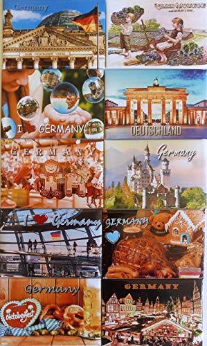 Smart Souvenirs Dresden For me, family & friends! Öppningserbjudande ! Exklusiv fotomagneter set! 10 stora 81 x 53 mm kylskåpsmagneter med motiv från Tyskland ...