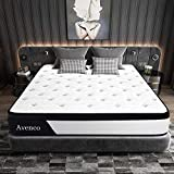 Full Size Mattress, Avenco Hybrid Mattress Full, 10 Inch Innerspring and Gel Memory Foam Mattress in a Box, with CertiPUR-US Foam for Supportive, Pressure Relief & Cooler Sleeping, 10 Years Support