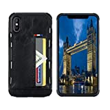 SOUNDMAE iPhone 8 Wallet Case, iPhone 7 Case with Card Holder, Slim Shockproof Protective PU Leather Wallet Case with Credit Card Slot Holder for Apple iPhone 8/7, Black