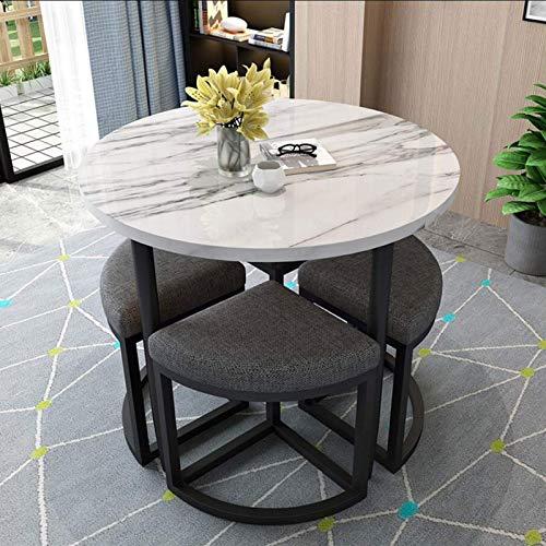 N/Z Home Equipment Light Luxus Marmor Esstisch und Stuhl Kombination Modern Simple Household Round Small Family Esstisch und Tisch Geeignet für Lounge Wohnzimmer Büro Couchtische (Farbe: C)