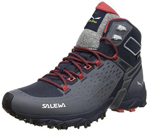 Salewa Damen WS Alpenrose Ultra Mid Gore-TEX Trekking-& Wanderstiefel, Night Black/Mineral Red, 38 EU