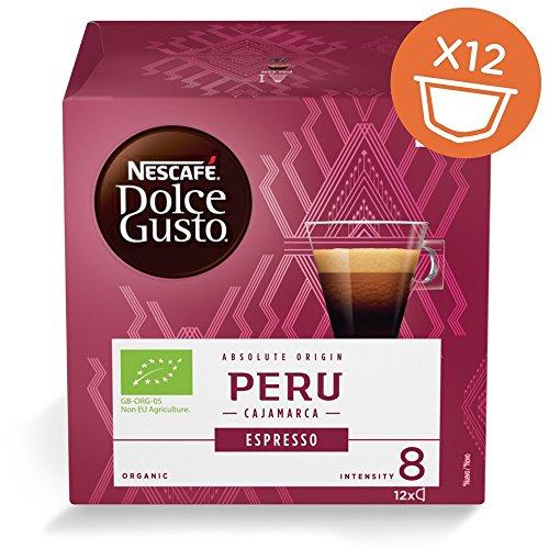 Nescafe Dolce Gusto Pods/Kapseln–BIO Peru Cajamarca (New) = 12Pods (Pack von 4Boxen = 48Pods)