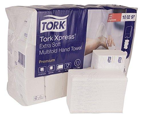 Tork Xpress extra zachte multifold papieren handdoeken 100297 - H2 Premium vouwhanddoeken voor handdoekendispenser - extra zacht en absorberend, 2-laags, wit - 21 x 100 doeken