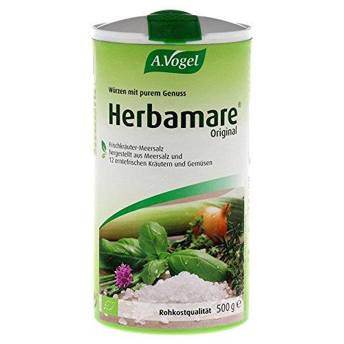 A.Vogel - Herbamare (Frischkräuter-Meersalz aus der Camargue), 1er Pack (1 x 500g) - BIO