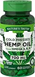 Nature's Truth Hemp Oil Capsules 700 mg | 60 Softgels | Non-GMO, Gluten Free | Cold Pressed from Hemp Seeds