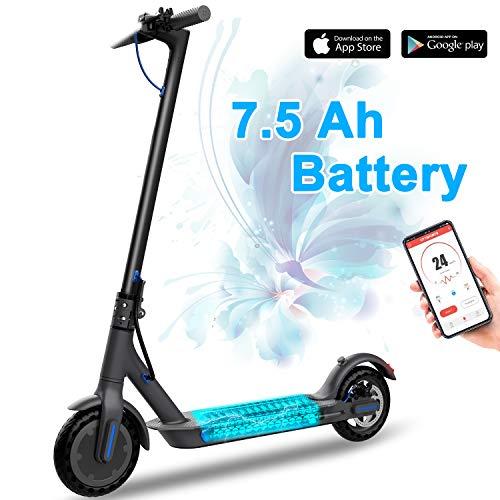 RCB Elektroroller 8,5 Zoll, Faltbarer Roller, Leichter Elektroscooter, Bluetooth & eingebaute App, 7,5 Ah langlebiger Akku, E-Roller für Erwachsene und Jugendliche
