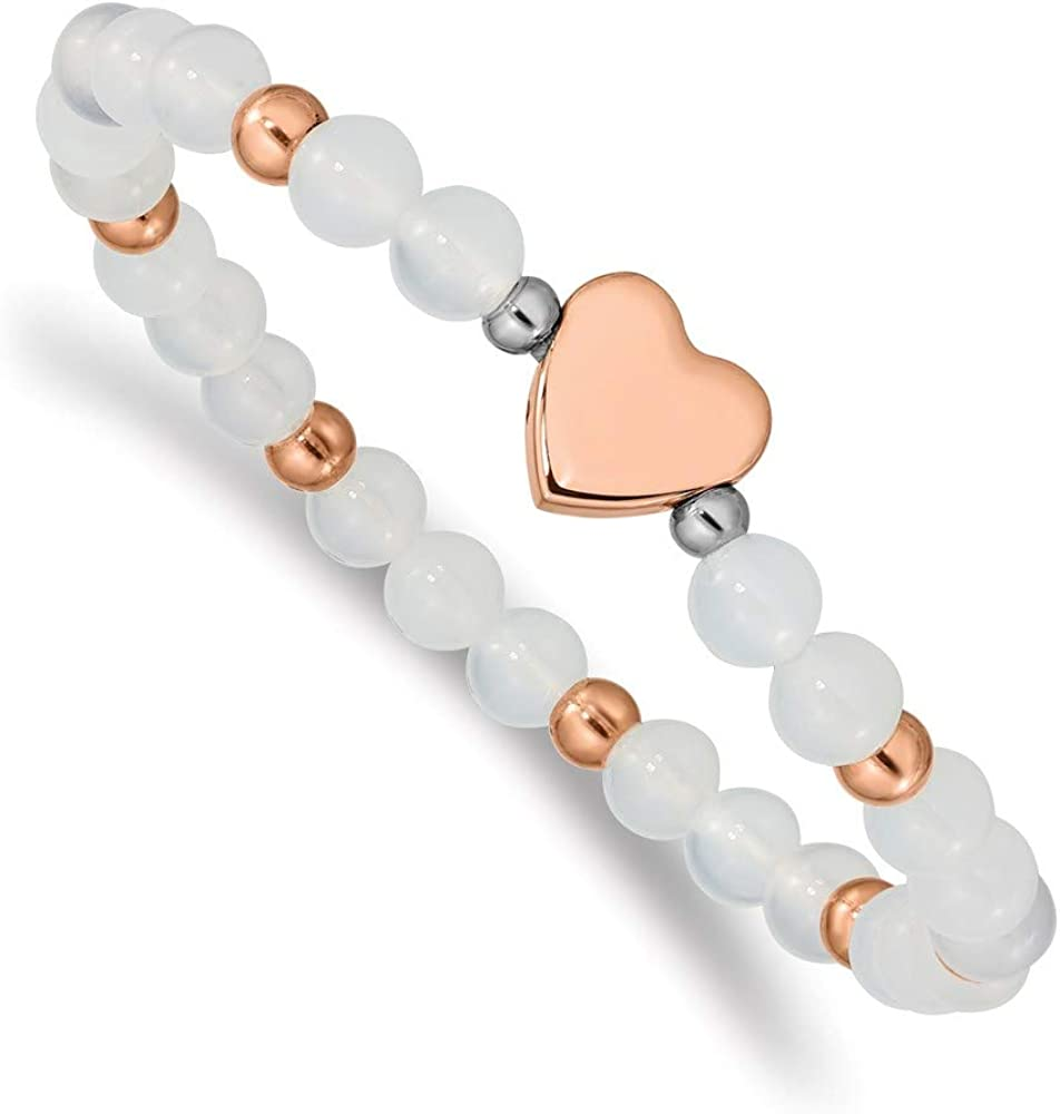 Ryan Washington Mall Jonathan Fine Jewelry Stainless Steel Max 44% OFF Ion Heart Plated Rose