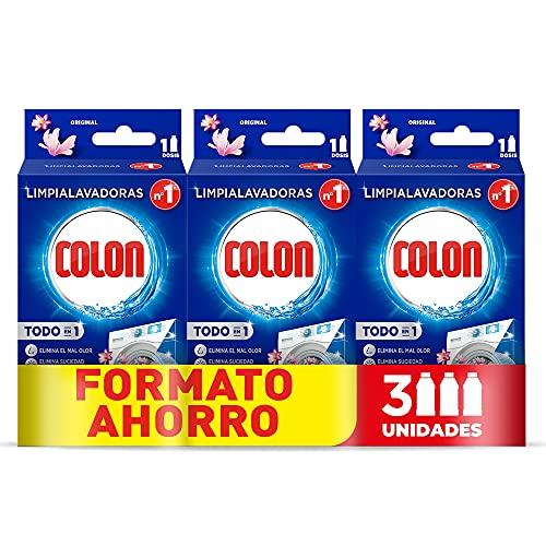 Colon Limpialavadoras - Limpia la lavadora y elimina malos olores, Megapack de 3 usos
