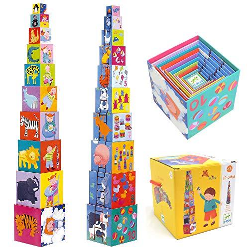 Djeco - DJ08503 - Jeu de construction - 10 Cubes Rigolos