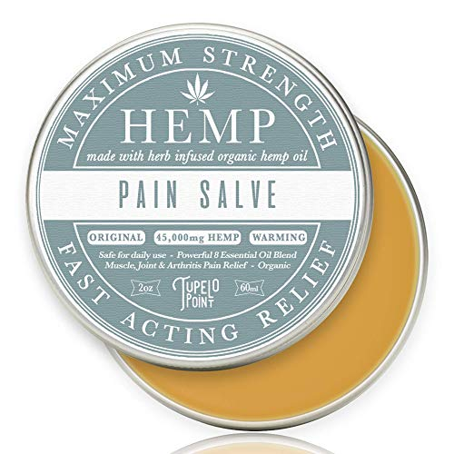 Hemp Pain Relief Salve | 45000mg Hemp | Herb Infused | 9 Essential Oil Blend | Cayenne Pepper | Relieve Neck Back Knee Muscle Joint amp Arthritis Pain | Fast Acting Homeopathic Remedy | 2oz