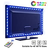 Tira LED TV 2.2M, OMERIL 5050 Tiras LED USB Impermeable con Control Remoto, 16 RGB Colores y 4 Modos, Retroiluminacion LED de TV...